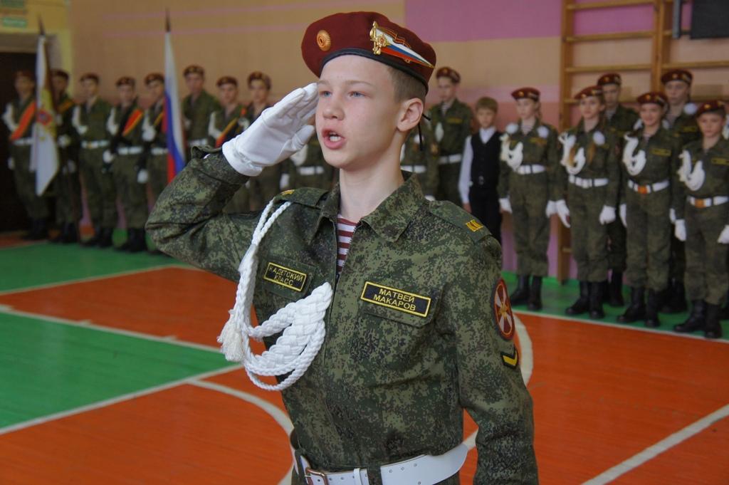Губернатор поздравил кадетов с принятием присяги